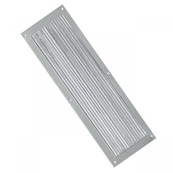 Nickel Chester Reeded Period Door Finger Push Plate | ATC