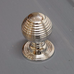 Nickel Plated Solid Brass Large Heavy Beehive Door Knob | ATC