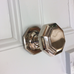 Nickel Silver Chrome Victorian London Centre Front Door Pull Knob | ATC
