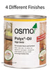 Osmo Polyx Oil with 4 different finishes