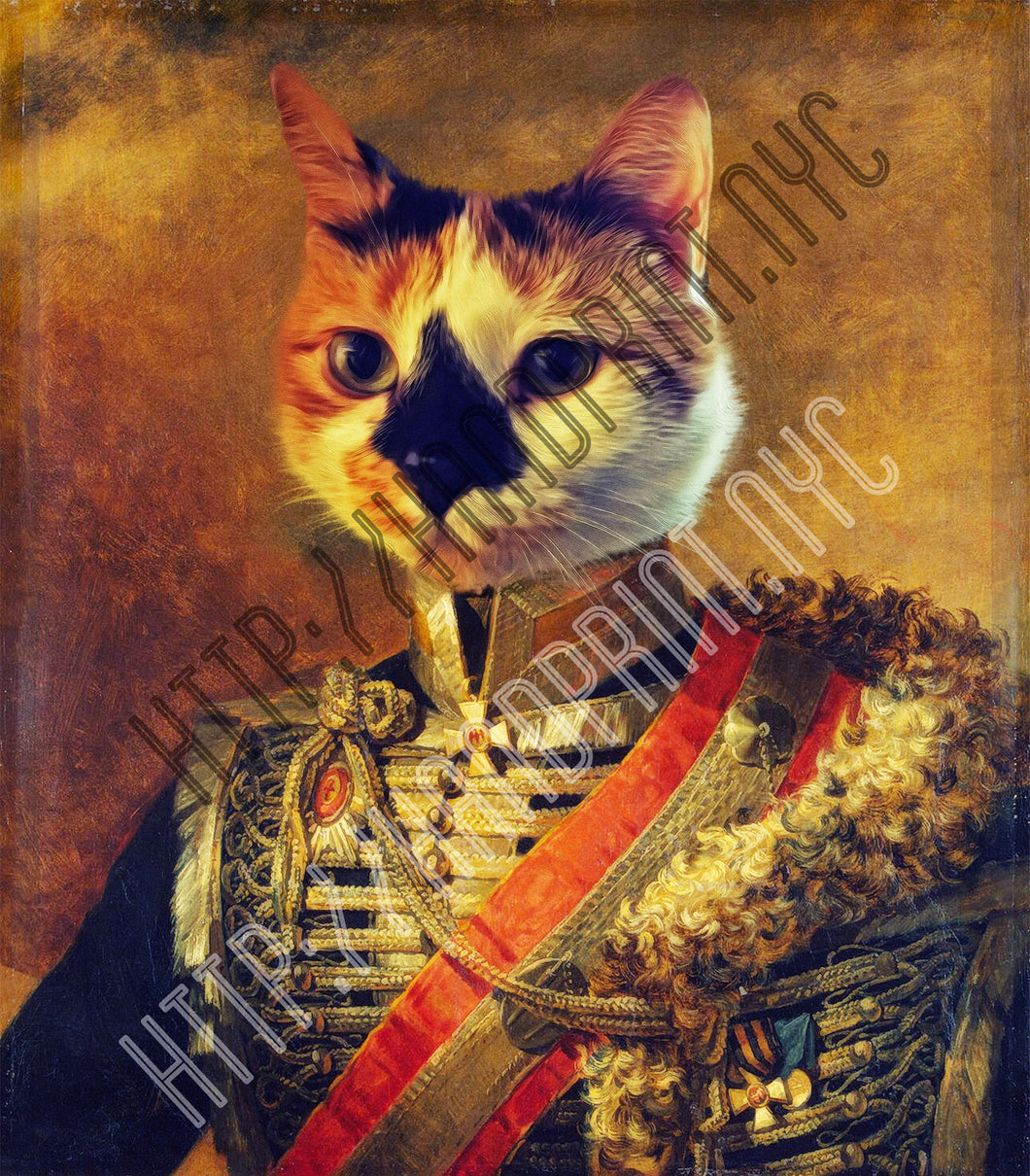 Cat Portrait Print - 5x7 or 8x10