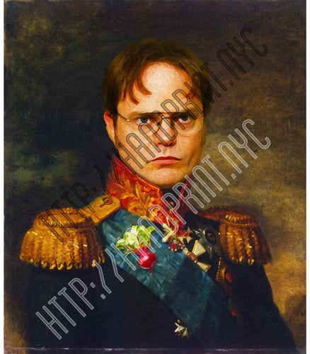 Dwight K. Schrute Portrait Print - 5x7 or 8x10