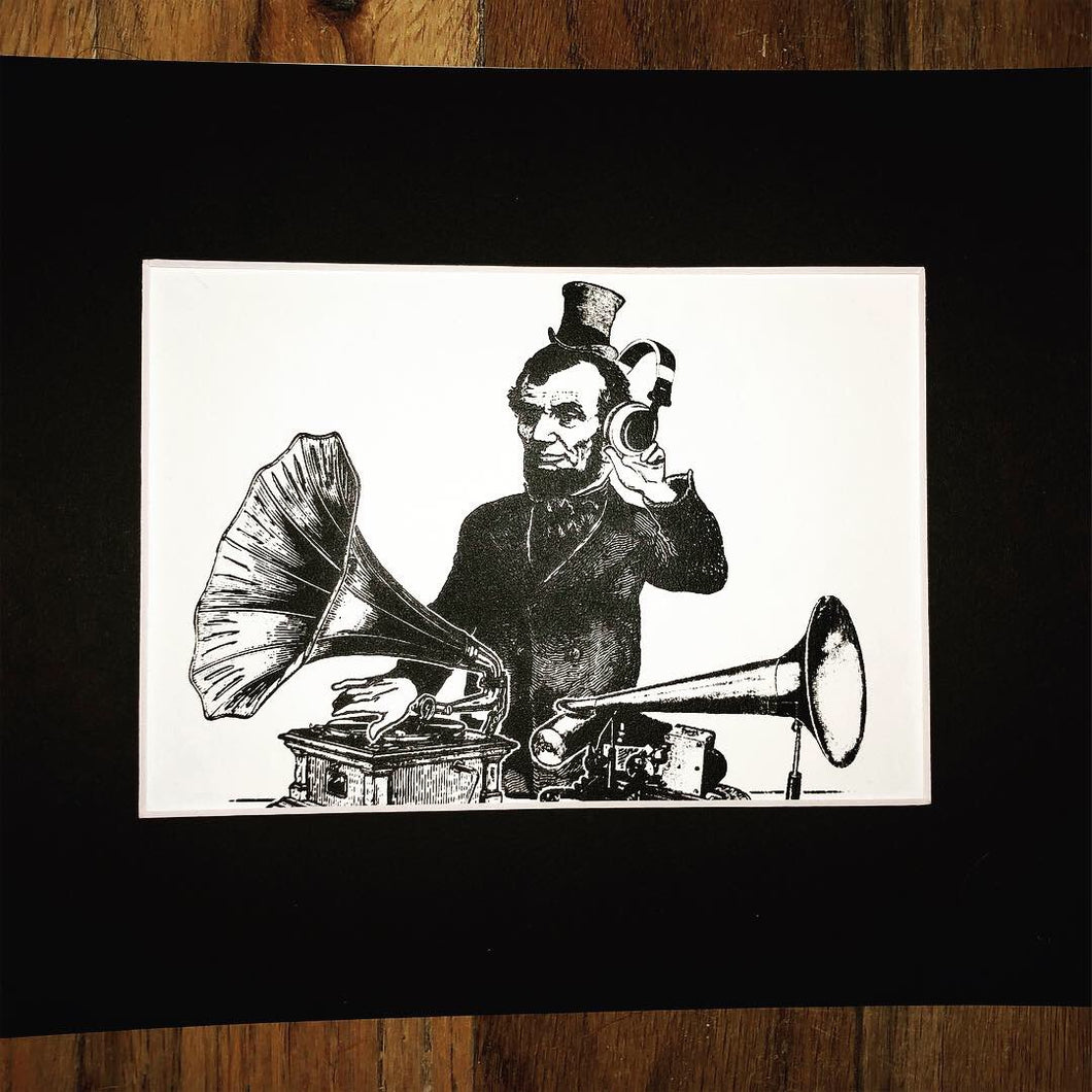DJbraham Lincoln Screen Print - 5x7