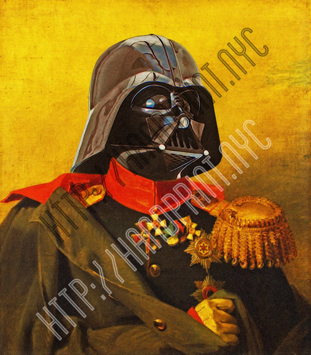 Darth Vader Portrait Print - 5x7 or 8x10