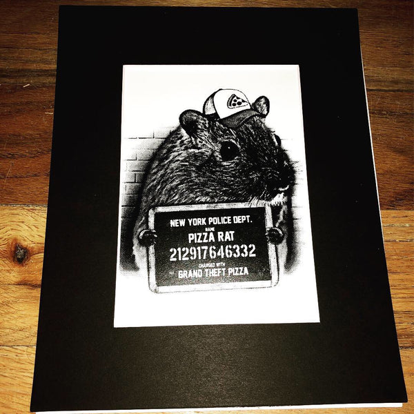 Pizza Rat Screen Print - 5x7