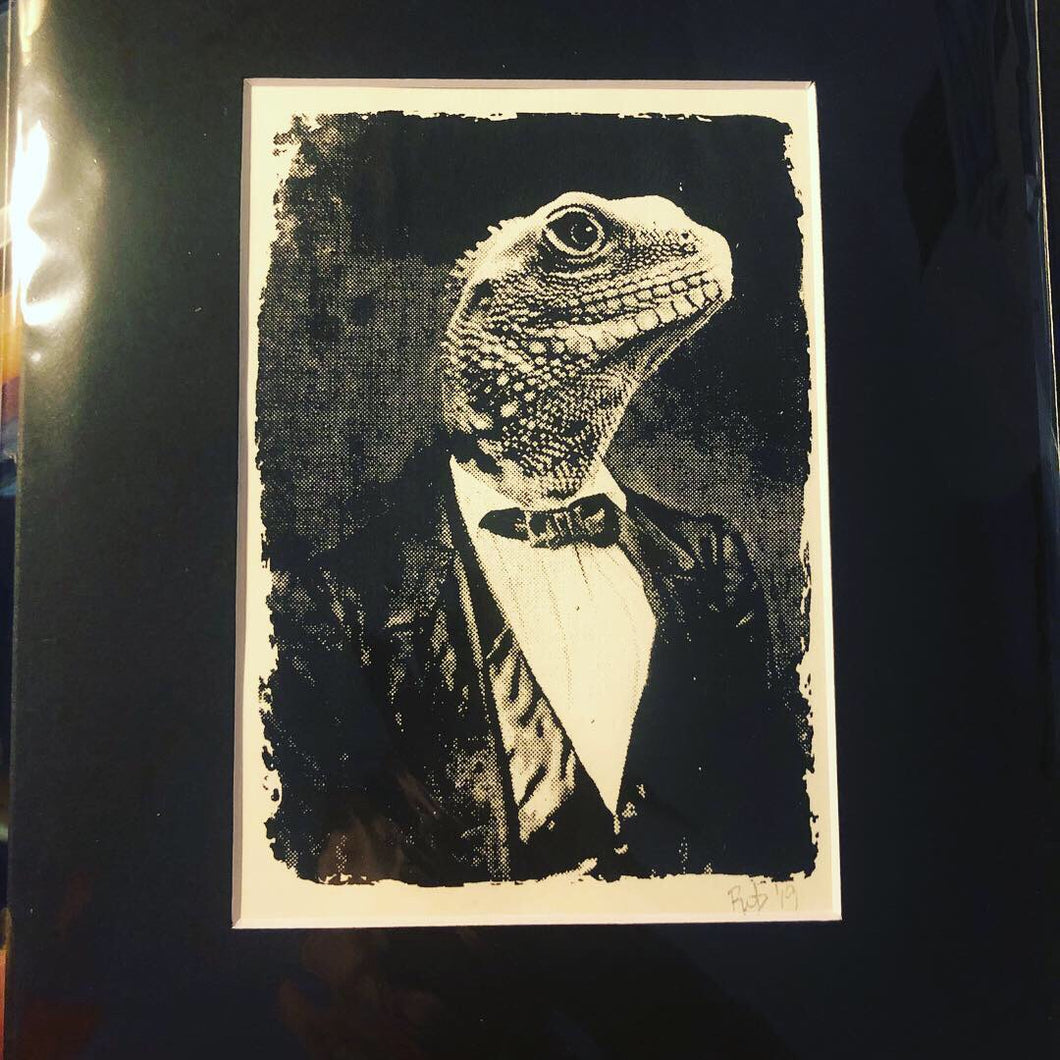 Lizard Man Screen Print - 5x7