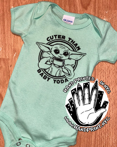Cuter than baby yoda onesie