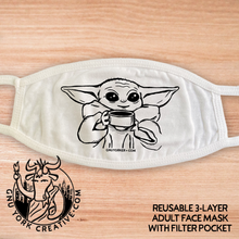 Reusable, 100% Cotton, 3 layer Face Masks w/ filter pocket (Buy 3 or more and save!)