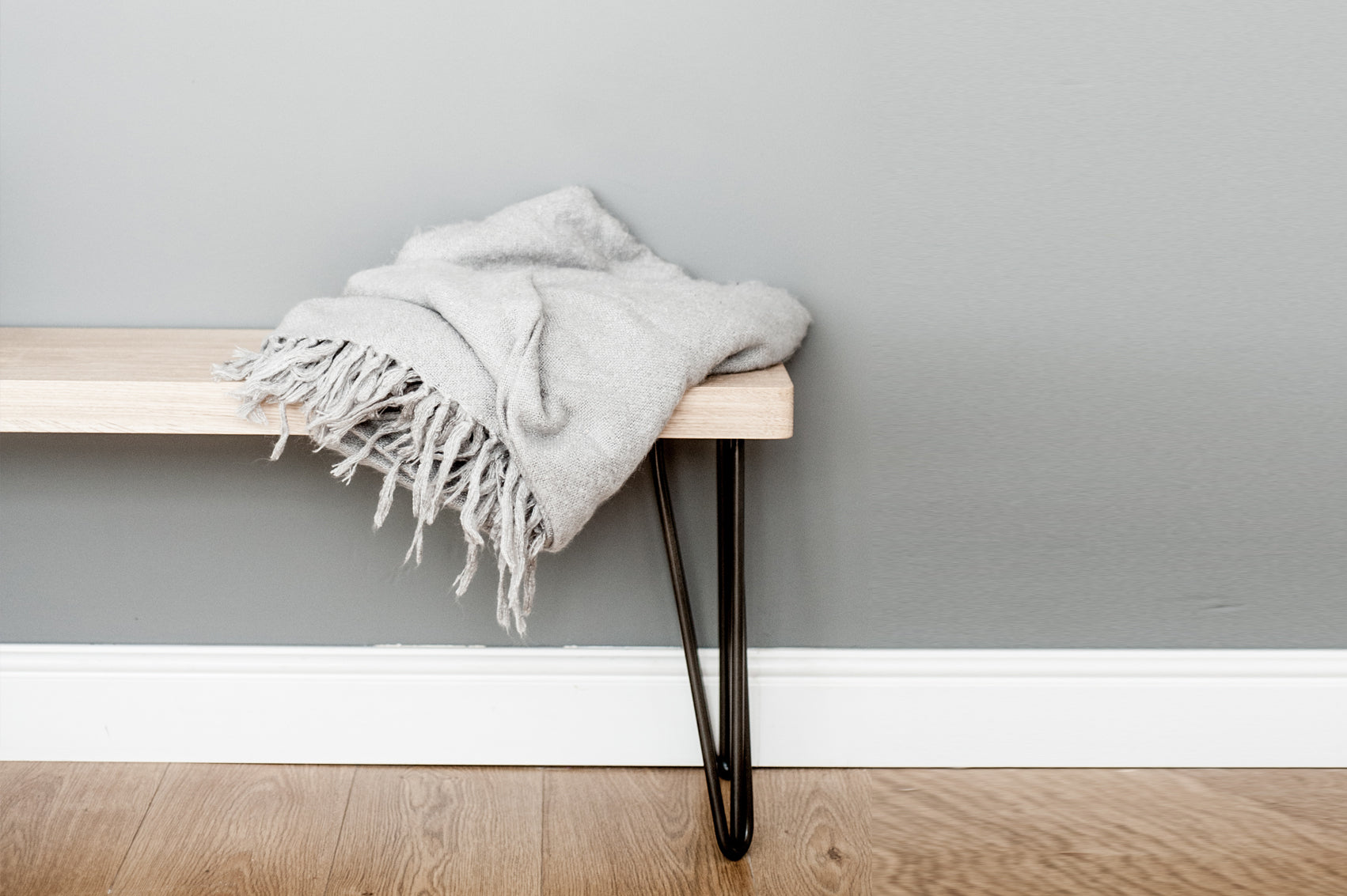 handmade hairpin bench