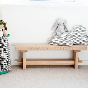 handcrafted kids bench