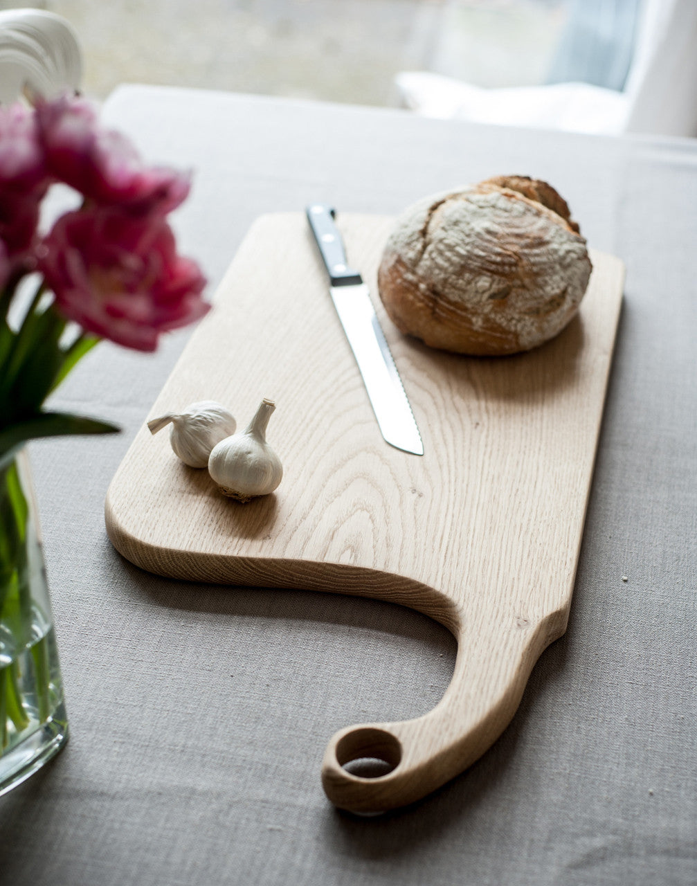 large oak chopping board