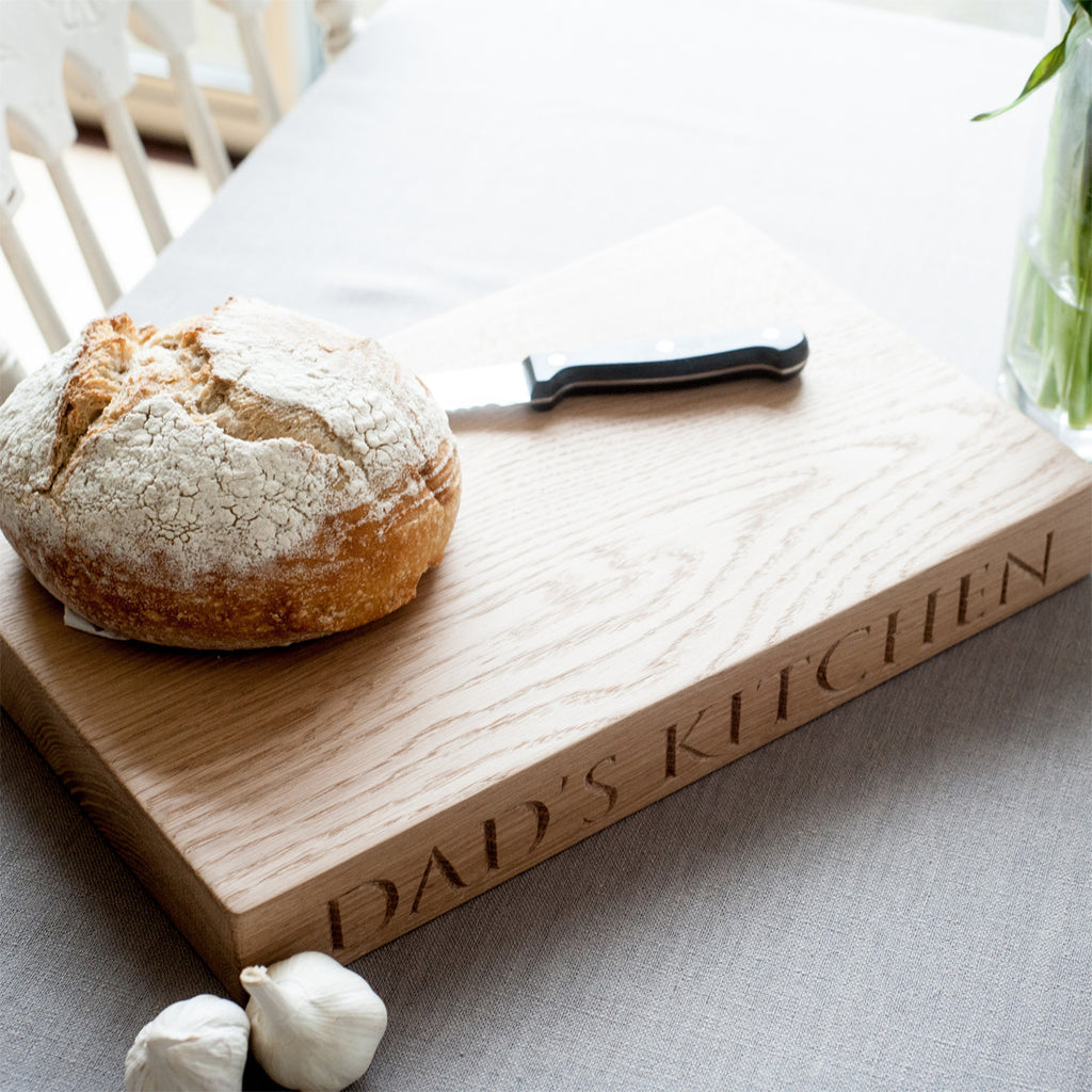 Large Personalised Oak Chopping Board