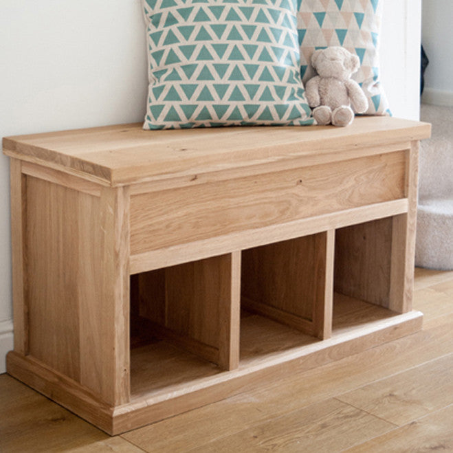Attrayant Oak Hallway Storage Bench