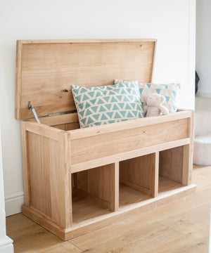 Oak Hallway Storage Bench