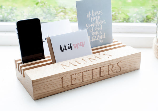 Oak Letter Rack/Desk Tidy