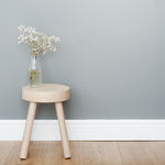 childrens personalised oak stool