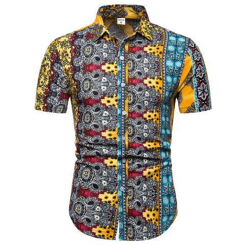 Summer Style Palm Tree Men Shirt