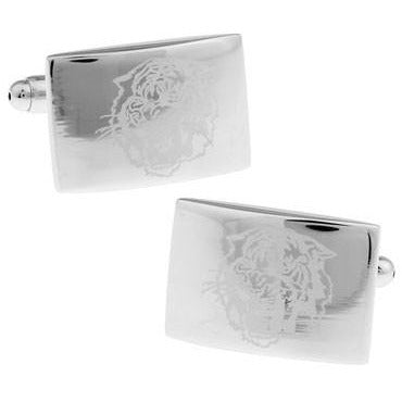 Silver Design Laser Cuff Links - fazbima