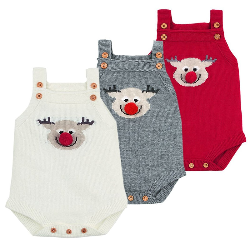 Adorable Deer Knitted Bodysuit - fazbima