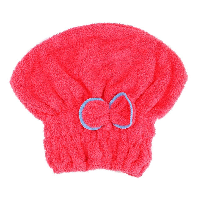 Quickly Dry Hair Microfiber Towels Hat 5 Colours