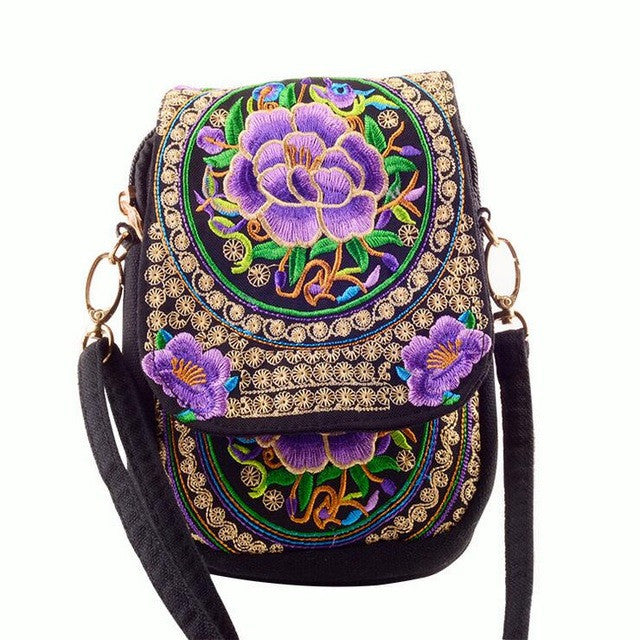Embroidered Canvas Purse - fazbima