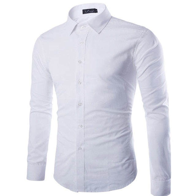 Men's Long Shirt Sleeve Shirts - fazbima