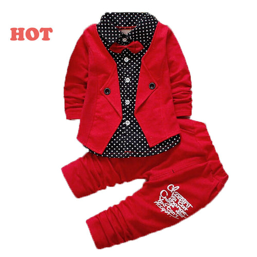 Jacket, Pant Button Letter Bow Babe 2PCS - fazbima
