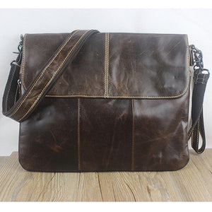 Genuine Leather Crossbody Bag - fazbima