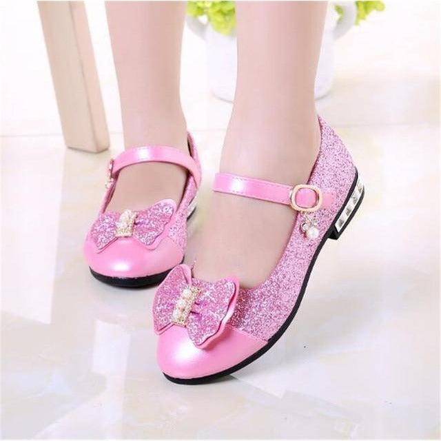 Princess Sequins School/Party Shoes - fazbima