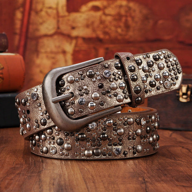 Rivet Studded Belt - Fozbima Accessories