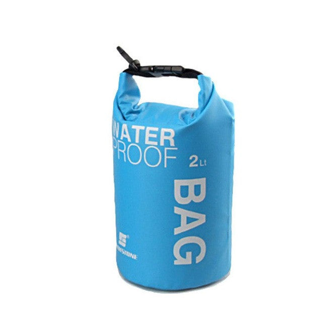 Portable Waterproof 2L Water Bag Storage Blue Lunch Bag