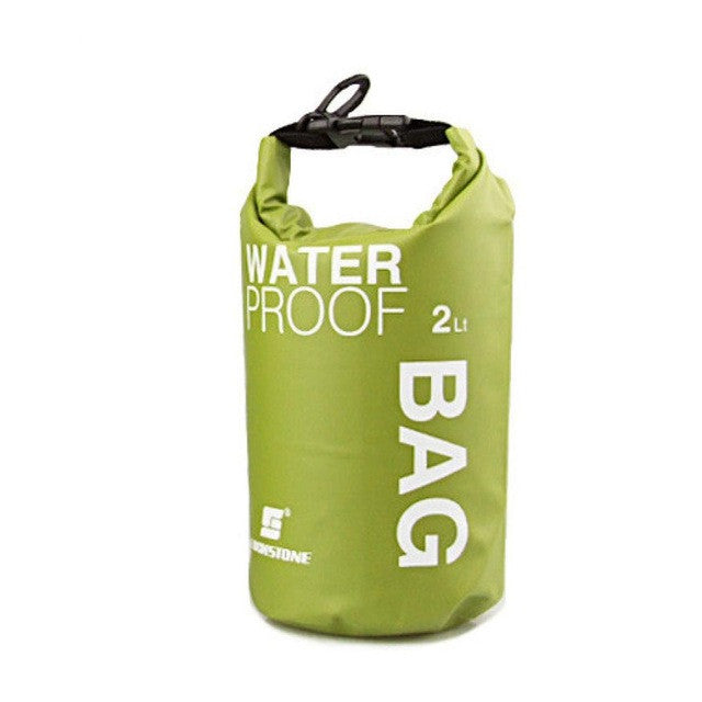 Portable Waterproof 2L Water Bag Storage Green Lunch Bag