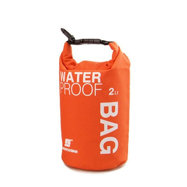 Portable Waterproof 2L Water Bag Storage Orange Lunch Bag