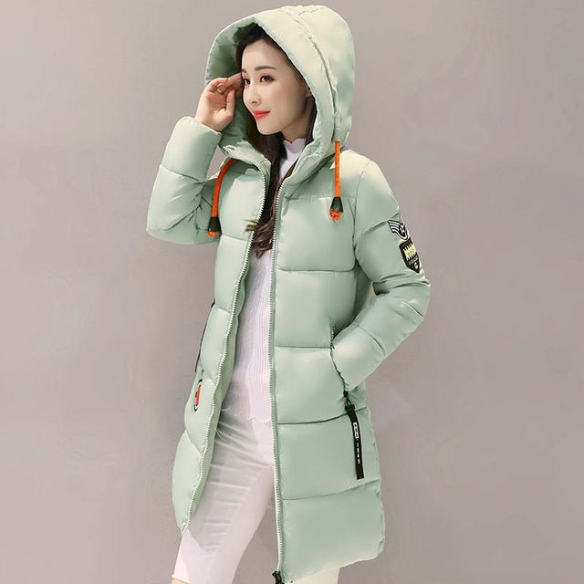 Thick Long Hooded Coat - fazbima