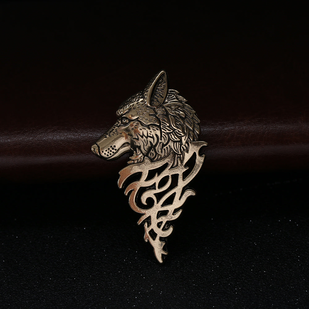 Brooches Charming Vintage Punk Wolf Badge 1Pc Pin - fazbima
