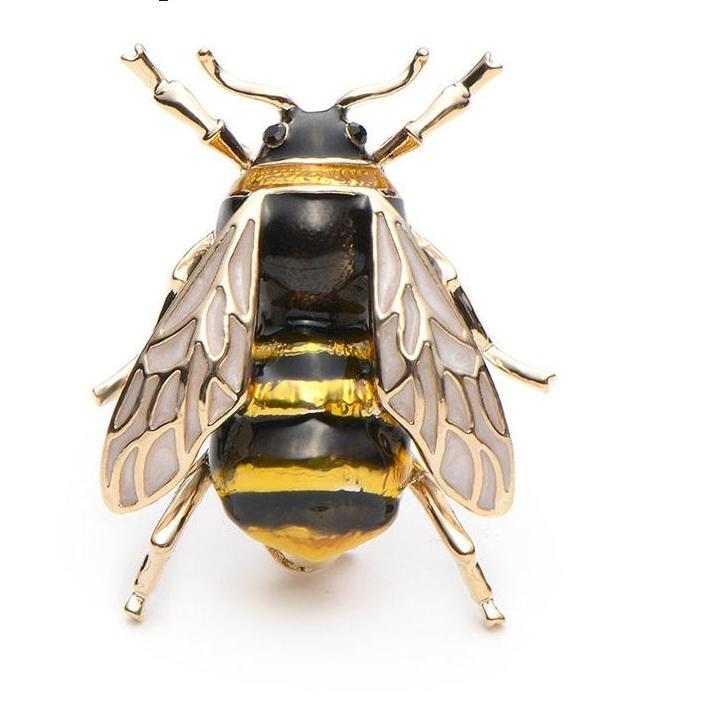 Brooches Enamel Bumble Bee Pin - fazbima