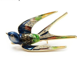 Brooches Swallow Pin - fazbima