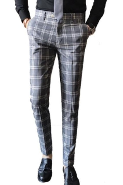 Plaid Formal Trouser - fazbima