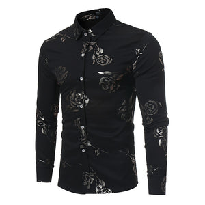 Floral Print Slim Fit Shirt - fazbima