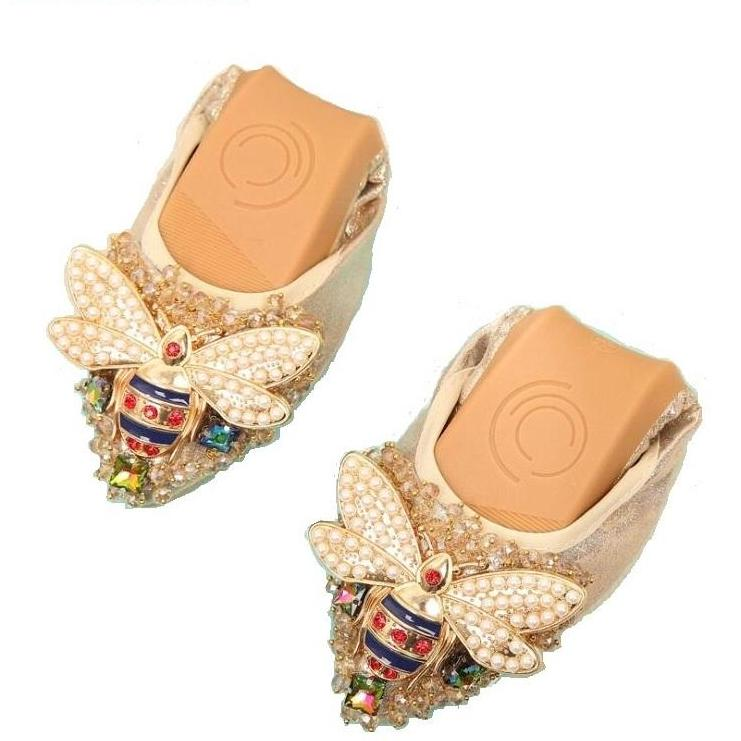 Crystal Flat Elegant Comfortable Shoes - fazbima