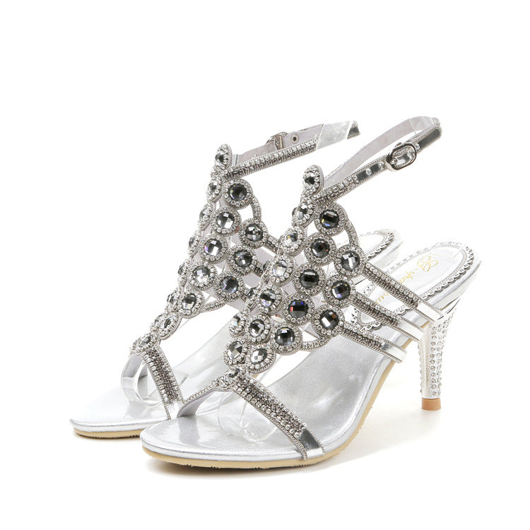 Sandals High Heel Diamond Silver - fazbima