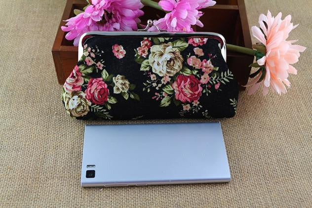 Exclusive Retro Vintage Flower Small Hasp Purse - fazbima