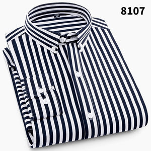 Striped Geometric Printed Casual Shirt - fazbima