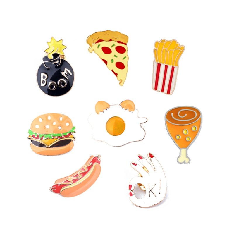 Fast Food Brooches - fazbima
