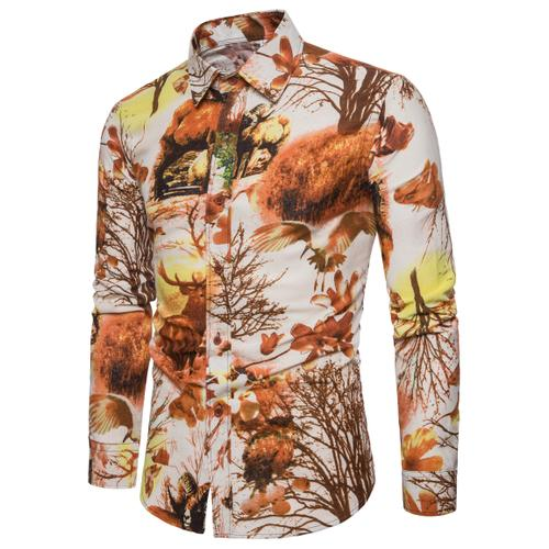 Fashion Floral Printing Shirt - fazbima