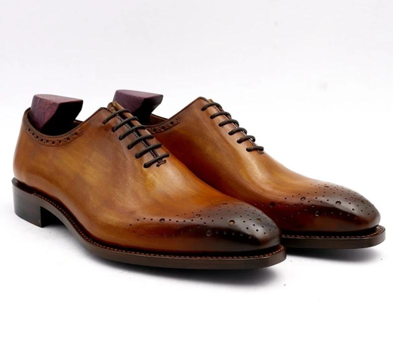 Shoe,Wholecut Genuine Calf Leather Formal Shoe