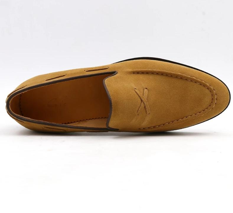 Shoe,Breathable Casual Elegant Slip-on Flat Brown Boat Luxury Suede Shoes