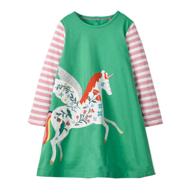 Long Sleeve Unicorn Dress - fazbima