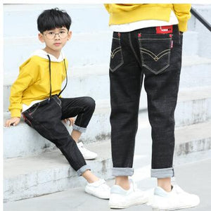 Spring children's Solid Thin Denim - fazbima