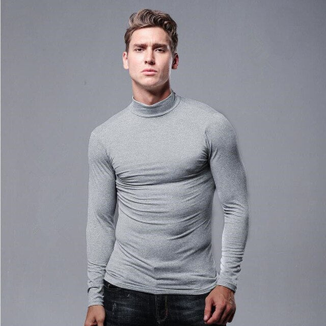 gray half turtleneck